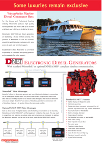 Marine Diesel Generators by Westerbeke (Click for PDF)